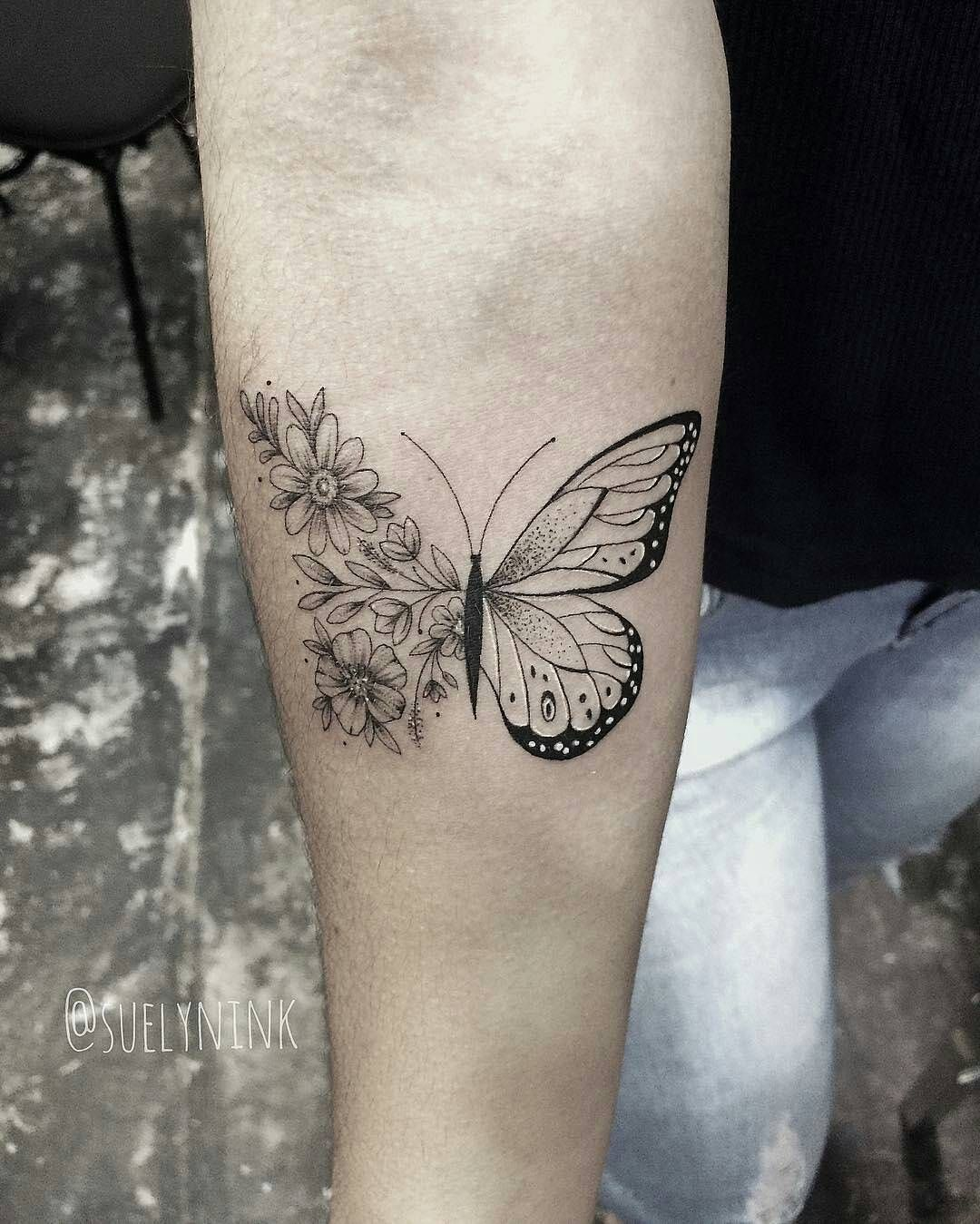 Pin By Manrique Madriz On Tatoos Butterfly Tattoos For Women Lace Butterfly Tattoo Butterfly With Flowers Tattoo
