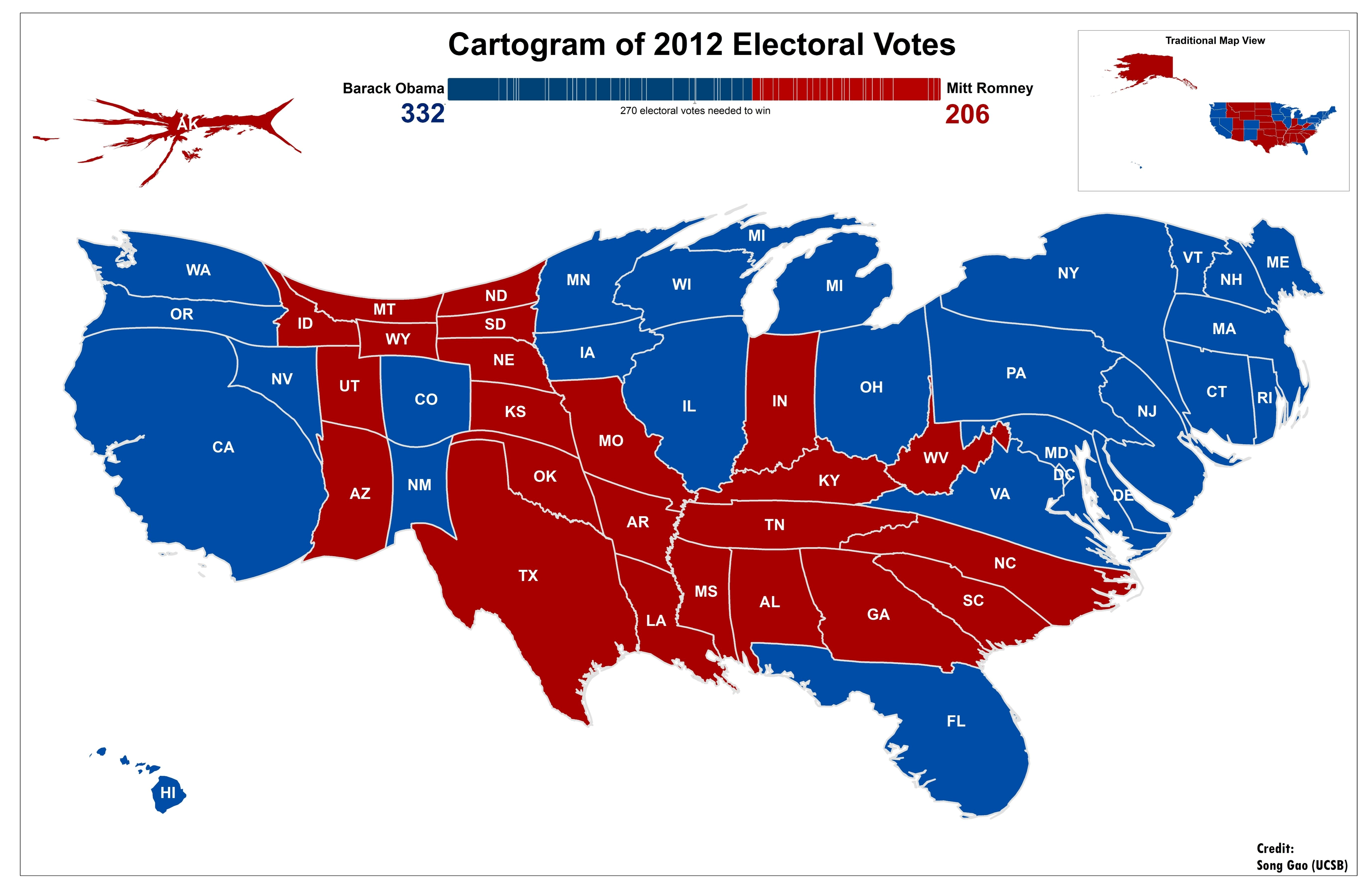 The Art Of Cartogram STKO Lab Map Cartogram Pinterest - Map of population density us election
