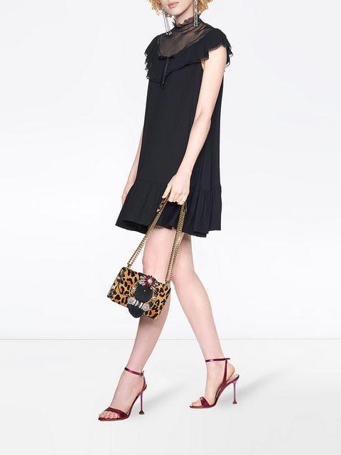 MIU MIU Georgette-Kleid mit Rüschen 1.290 € | Modestil ...