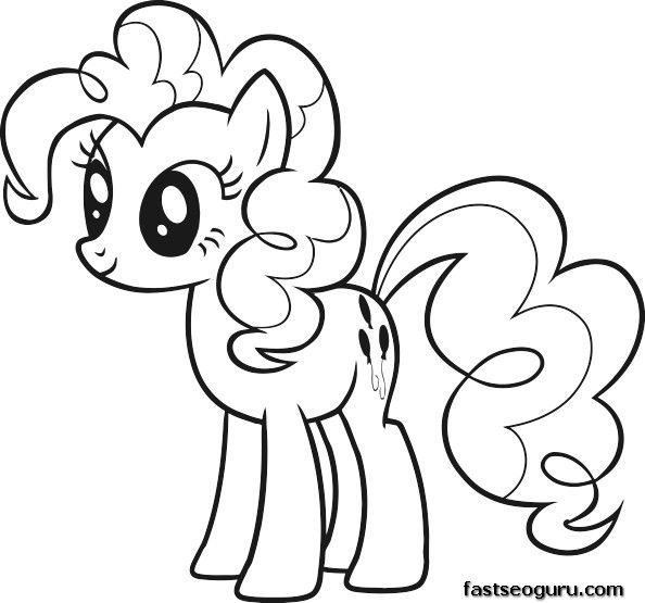 Printable My Little Pony Friendship Is Magic Pinkie Pie coloring