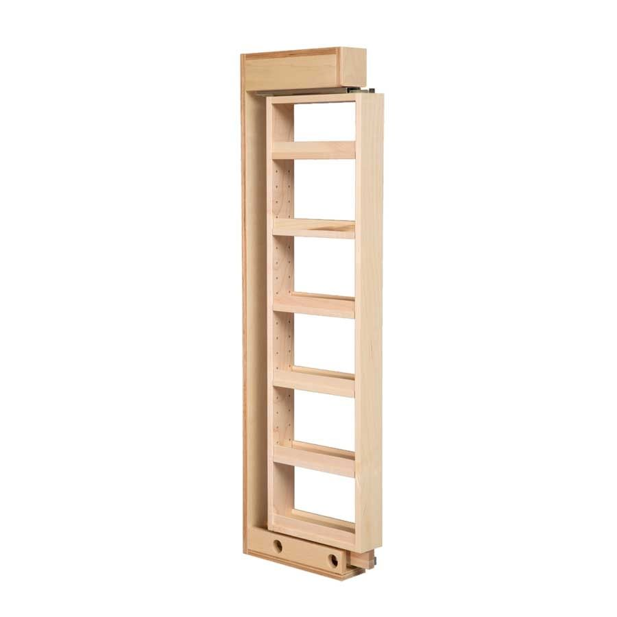 Century Components 6 Inch Width Wall Filler Pull Out Organizer With 4 Adjustable Shelves Maple Minimum Cabinet Width 6 1 8 Inch Wcf642pf Shelves Adjustable Shelving Wall Shelf Unit