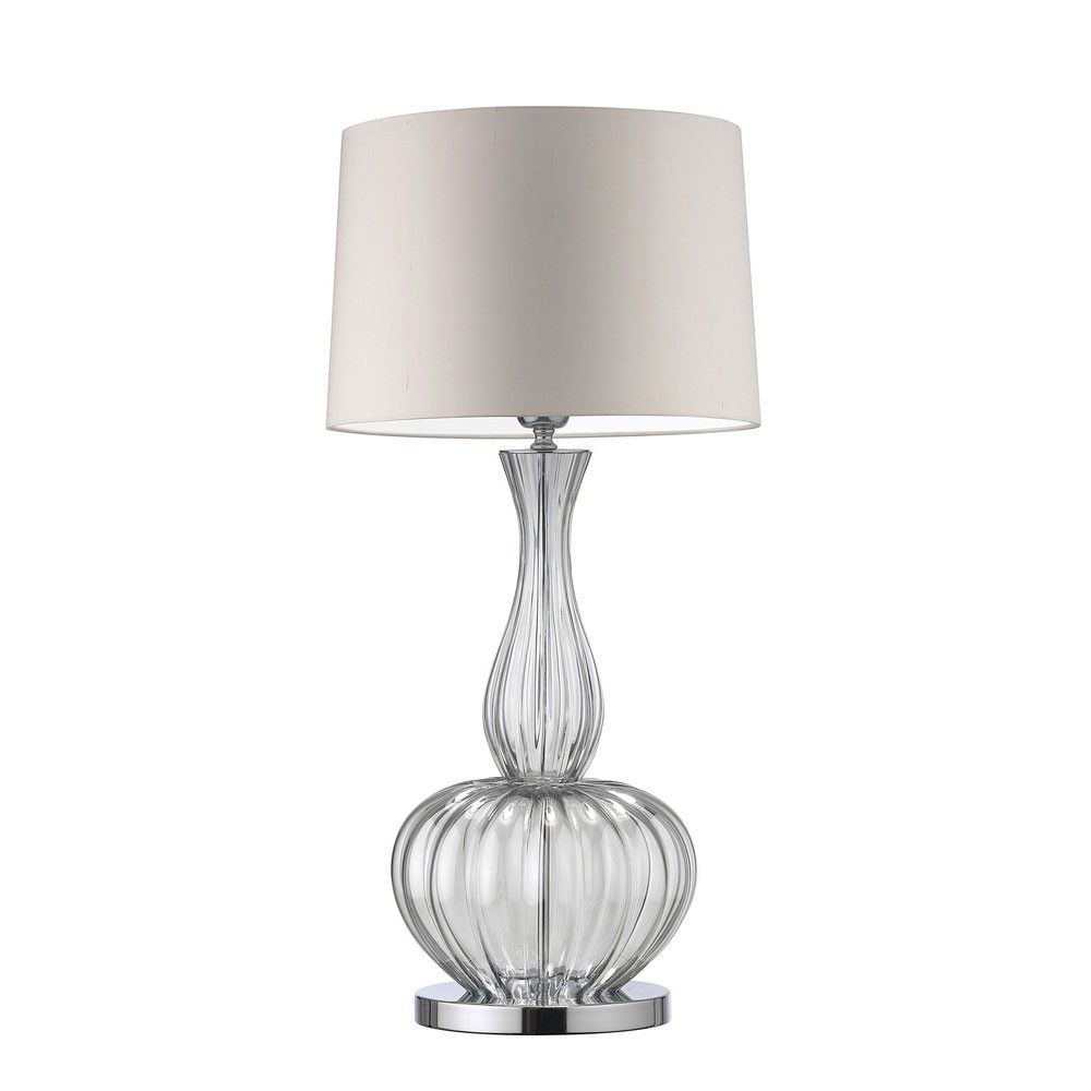 Glass Base Table Lamps Heathfield Mould Blown Glass Based Table Lamp With A Fluted Optic