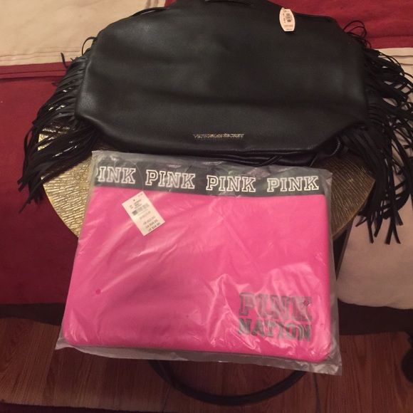Victoria Secret Fringe backpack, PINK Bag Backpack Only. Sold pink seperate Victoria's Secret Bags Backpacks