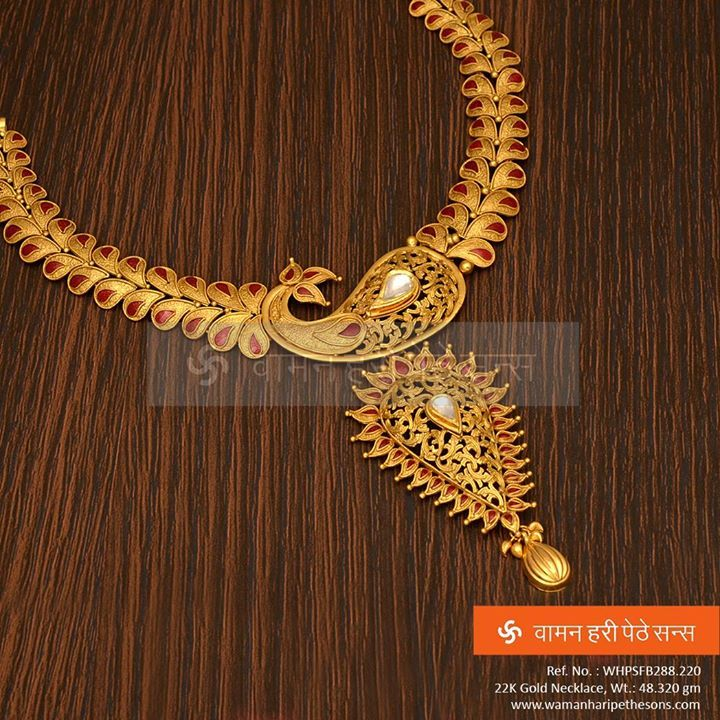 Traditionally #designed #amazingly #crafted #gold #necklace from ...