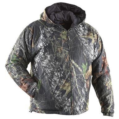 Rocky Lightweight Insulated Camo Hooded Jacket