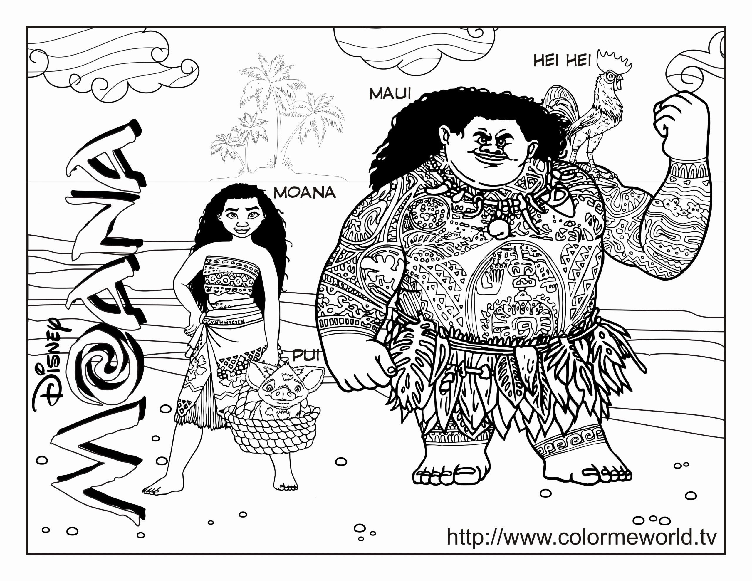 Hei Hei Coloring Page Elegant Moana Coloring Pages