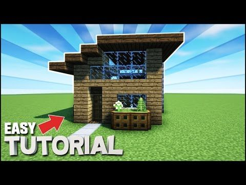 Minecraft Survival Starter House Tutorial How To Build A House In Minecraft Youtub Easy Minecraft Houses Minecraft Starter House Minecraft Houses Survival