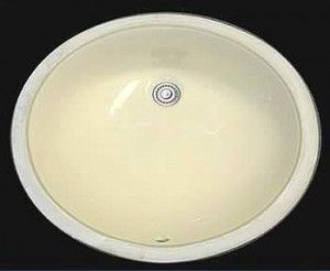 CB-210B Undermount Ceramic Vanity Sink Bisque Color – 17″ x 14″ 1