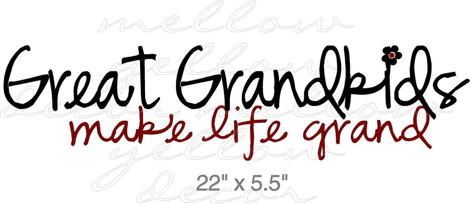 Great Grandchildren vinyl decal wall words art graphics