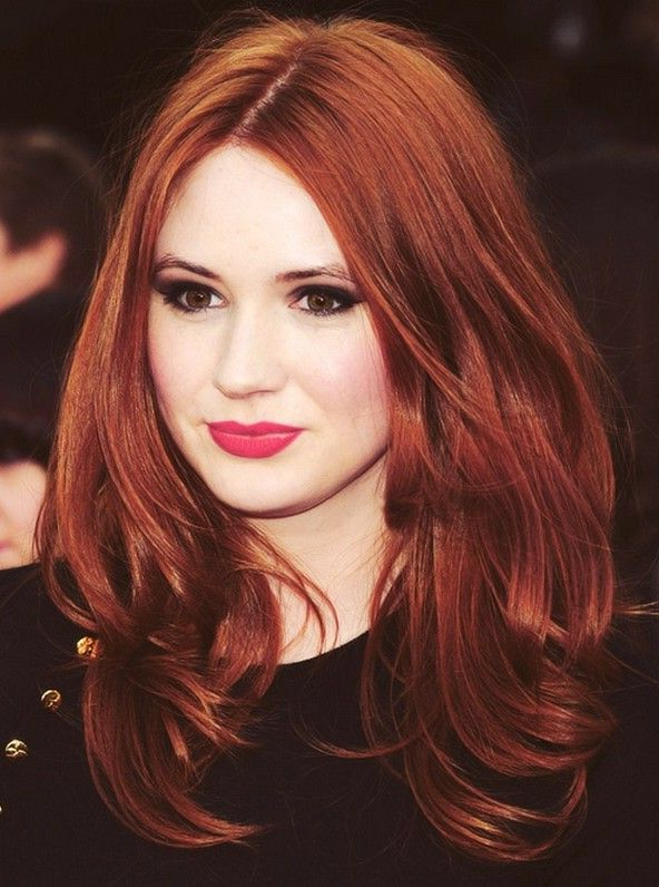 Intense Copper Hair Color Auburn Redhead Hairstyles Hair Styles