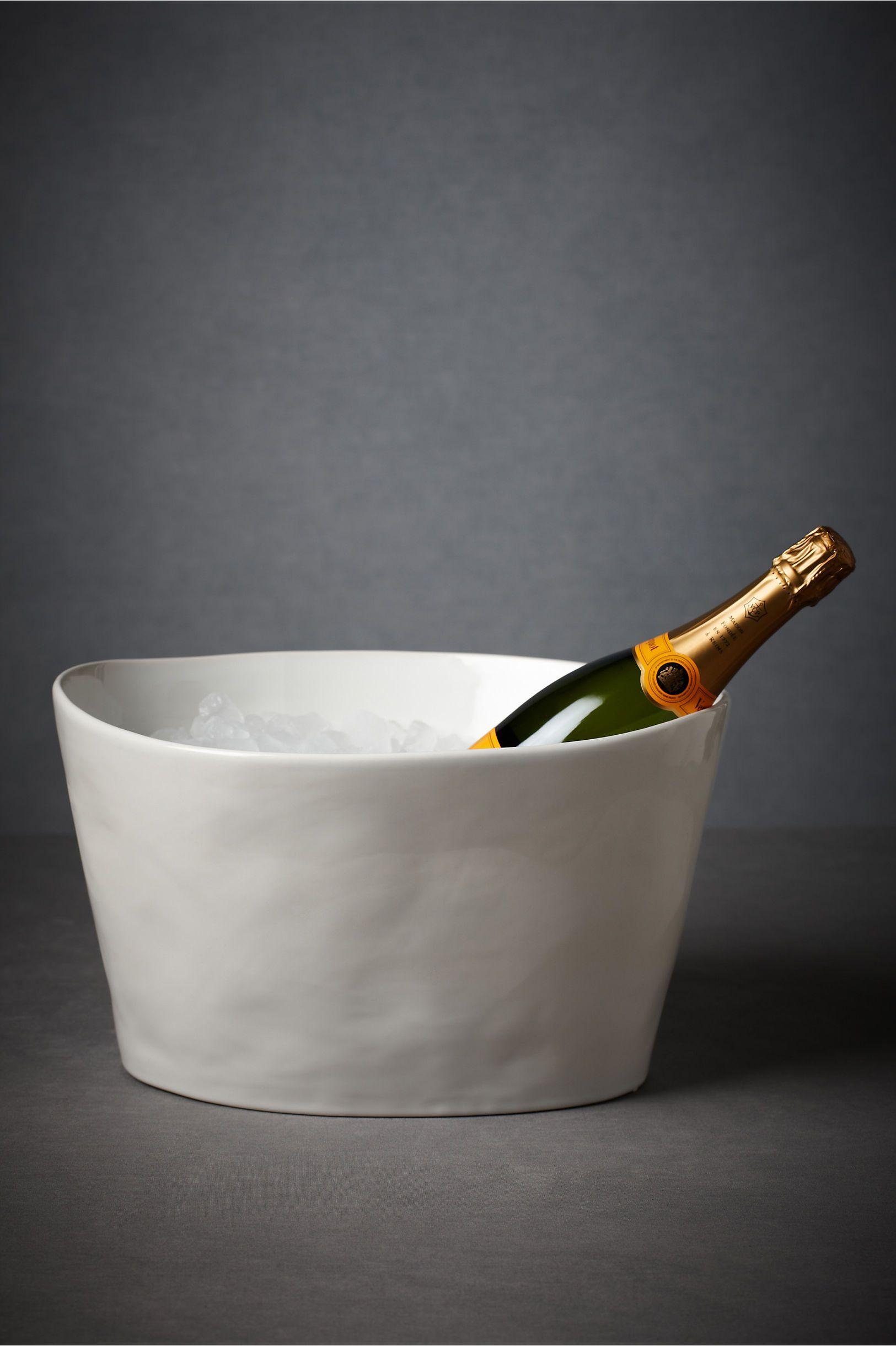 Organic Porcelain Oval Ice Bucket by BHLDN