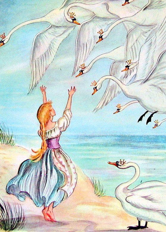 The Wild Swans - Illustration by Tasha Tudor TASHA TUDOR in 2019