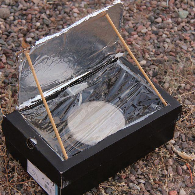 How To Make A Shoebox Solar Oven Solar Cooking Solar Cooker Solar Oven