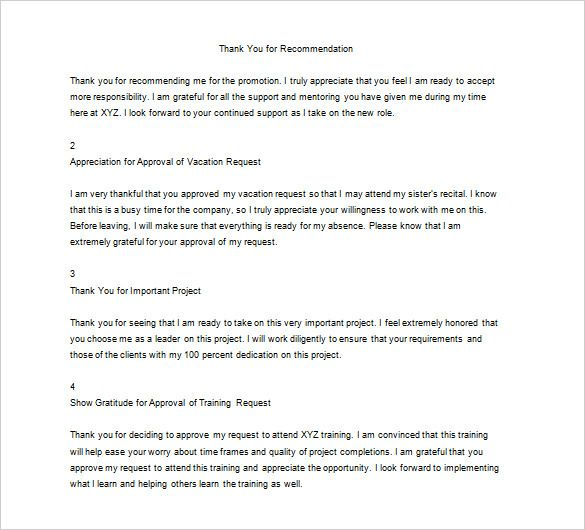 how write thank you letter your boss writing notes download - recommendation letter for a friend