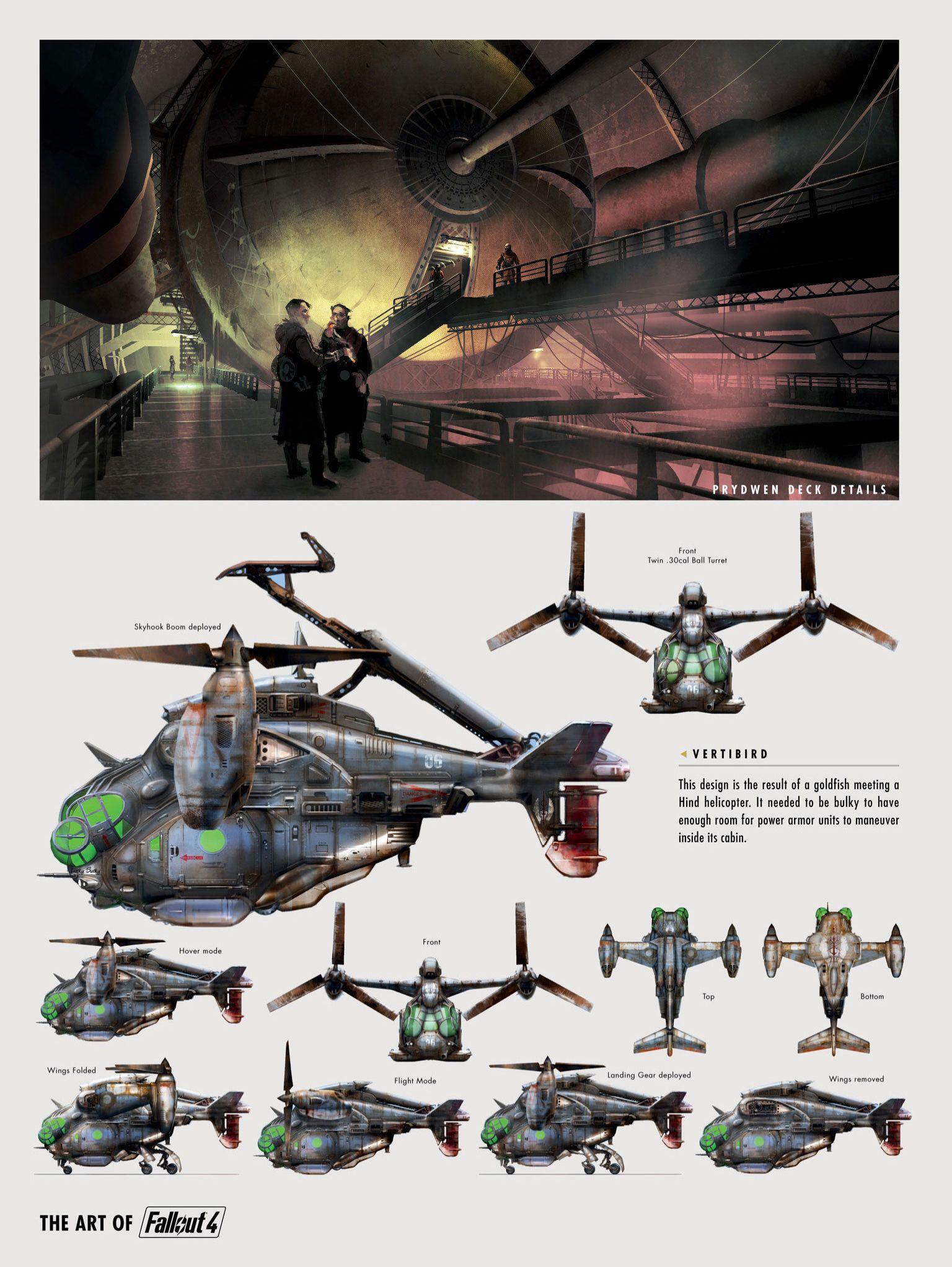 Fallout 4 | Concept Prydwen Deck Details & Vertibird