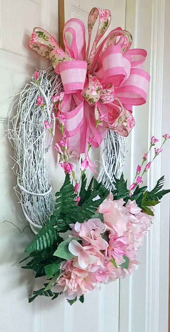 Photo of Hydrangea spring wreath, Spring grapevine wreath, Mothers day gift, Summer wreath