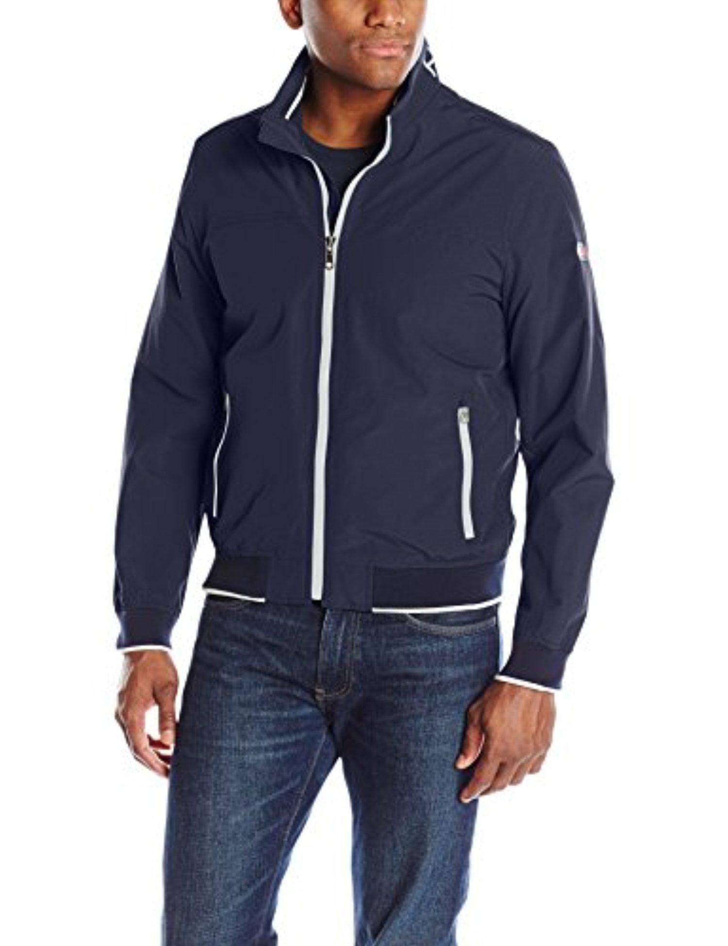Tommy Hilfiger Zip Front Pockets Men S Yachting Bomber Jacket Navy Medium Jackets Mens Jackets Mens Clothing Styles [ 1948 x 1500 Pixel ]