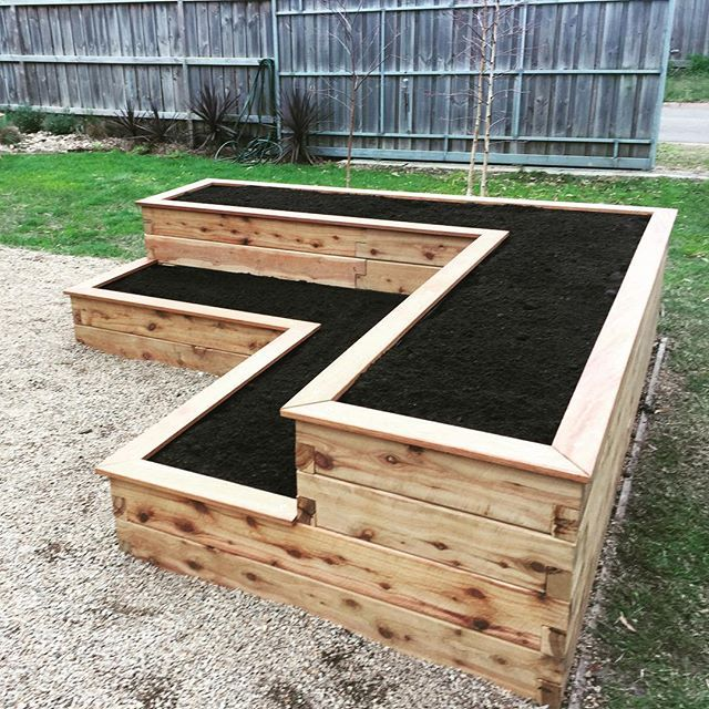 Rectangle Raised Flower Box Planter Bed 2 Tier Soil Pots: Raised Garden Bed Plans, Garden