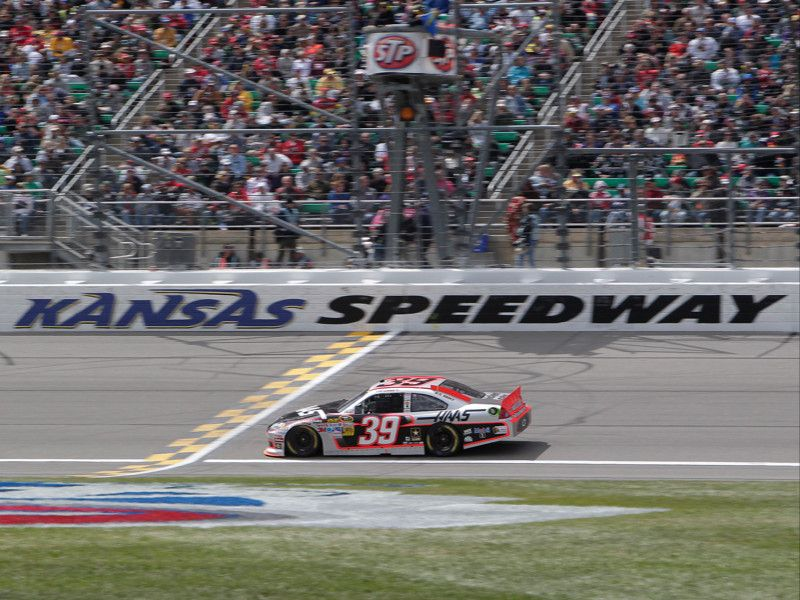 The No. 39 Chevy sports the Haas Automation paint scheme at Kansas Speedway