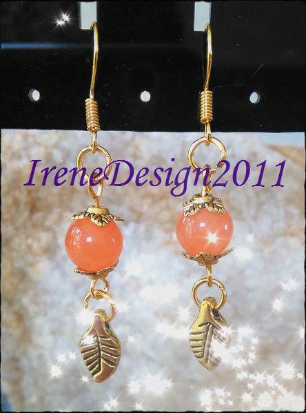 Orange Topaz & Leaves from IreneDesign2011 by DaWanda.com