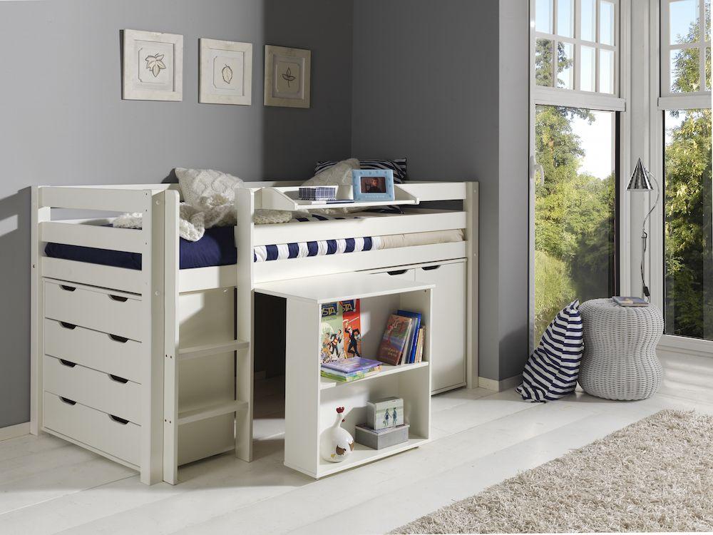 Junior Slaapkamer Ideeen.Doorbouwbedden Kamer Pino Junior Wit Combi 5 Bed Closet