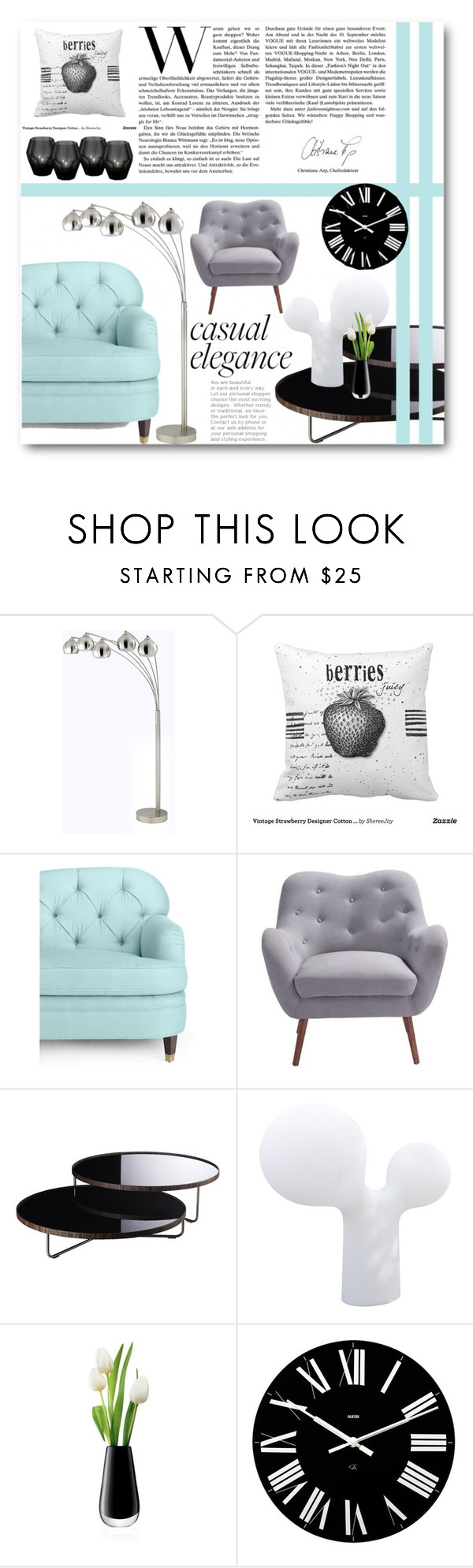 """""""Casual elegance"""" by miljaaurora ❤ liked on Polyvore featuring interior, interiors, interior design, home, home decor, interior decorating, Kate Spade, Moe's Home Collection, Modloft and Studio Eero Aarnio"""