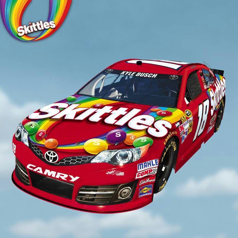 Skittles car | Addison | Pinterest | Kyle busch, NASCAR and Nascar ...