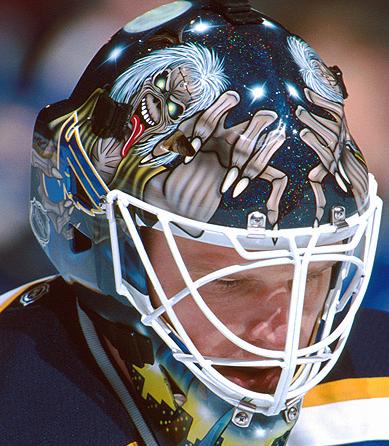 Roman Turek St Louis Blues The Number Of The Beast Iron Maiden Mask Goalie Mask Goalie St Louis Blues Goalies