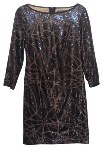 TADASHI-SHOJI-Dress-6-Black-Sequin-Long-Sleeve-Formal-Evening-Dress