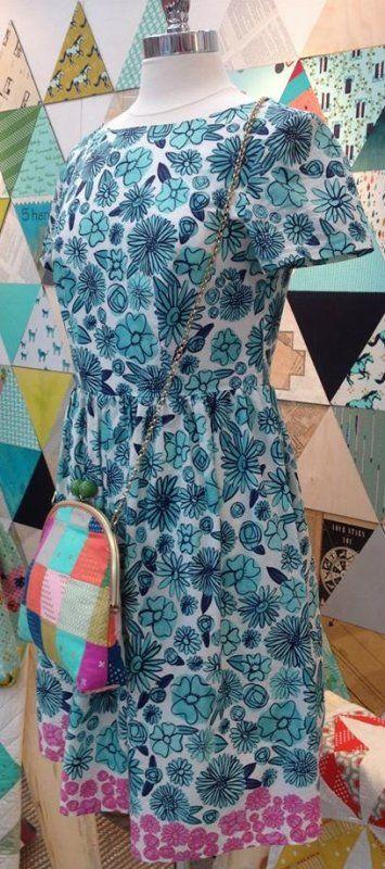 Hatbox--Palm Springs Blue--Alexia Abegg--Cotton + Steel--cotton lawn
