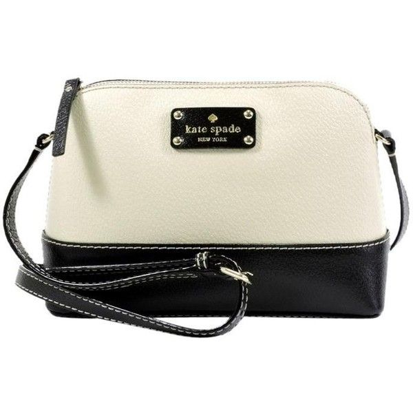 Kate Spade Berkley Lane Hanna Black White Cross Body Bag 134 Liked On Polyvore Featuring Bags Handbags Shoulder Handbag