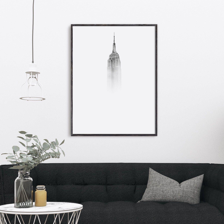 Minimalist nyc city art print from summersunhomeartetsycom