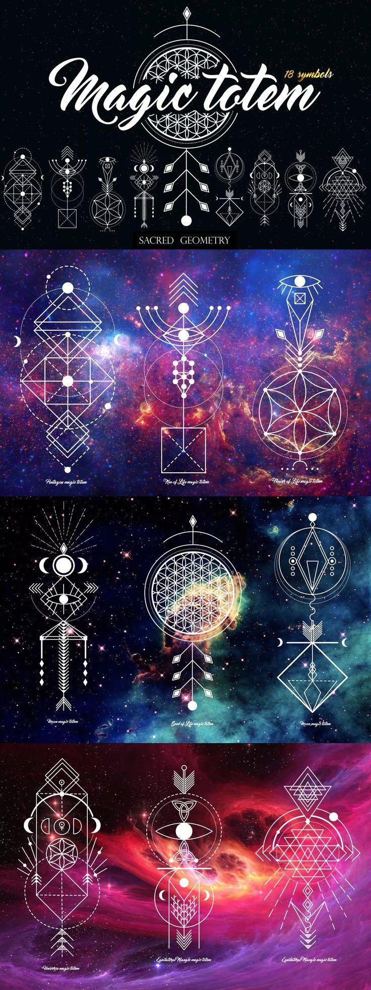Sacred Geometry. Magic totem - Vector EPS, AI
