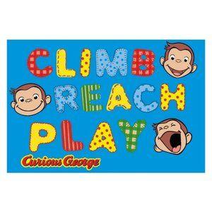 Fun Rugs Curious George CG-02 George Climb, Reach,play Area Rug - Multicolor