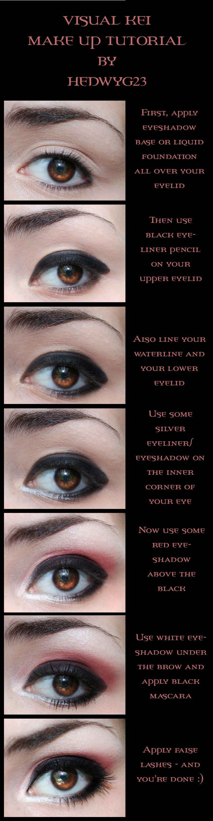 Visual Kei Eye Make Up Tutorial By Hedwyg23 Stuff To Try
