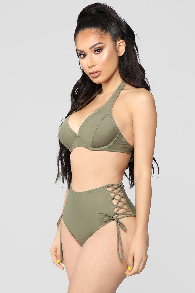 ea78e1c1aa Libra Bikini - Olive | FashionNova in 2019 | Bikinis, Bra tops, Swimwear