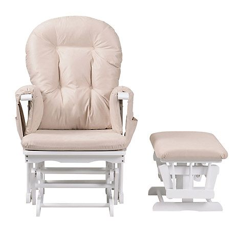 Kub Haywood Reclining Glider Nursing Chair And Footstool White Online At Johnlewis