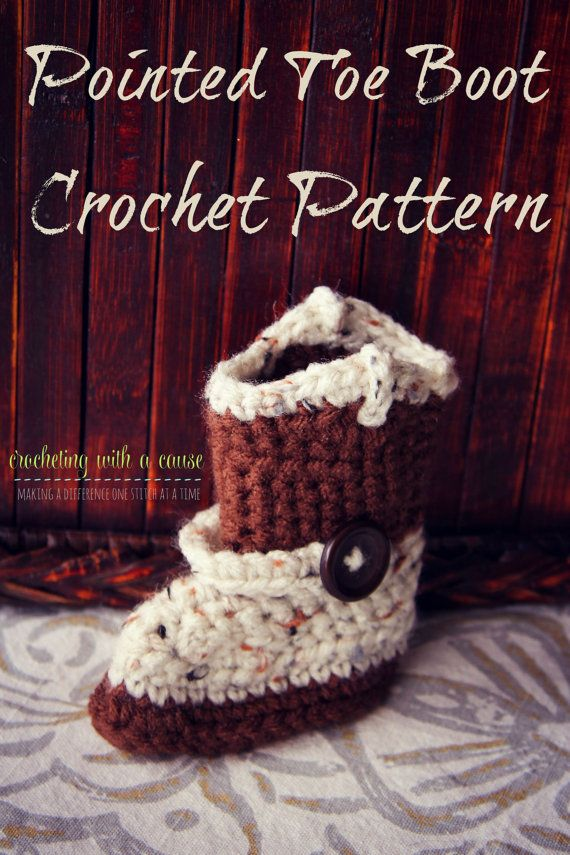 Pointed Toe Boot - Cowboy Boot - Crochet Pattern - Newborn https ...