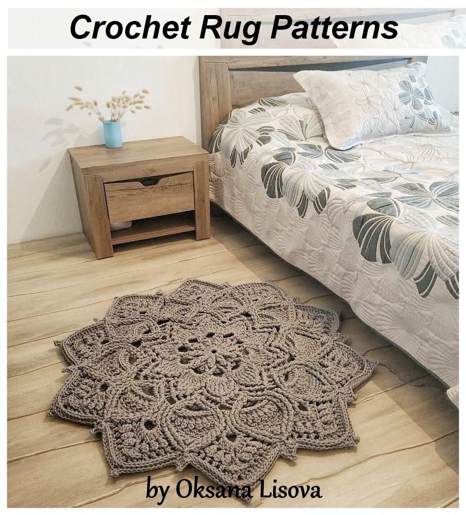 Video Tutorial Crocheting Rug Adonis Text Description In Etsy In 2020 Crochet Rug Patterns Crochet Rug Rag Rug Tutorial