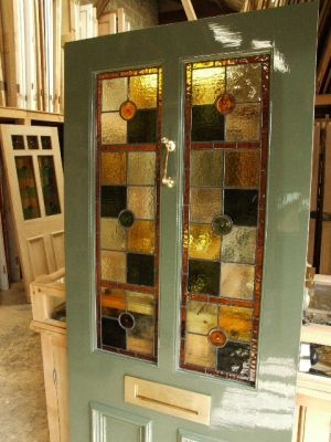 stained glass front entry door with side panels Stained Glass