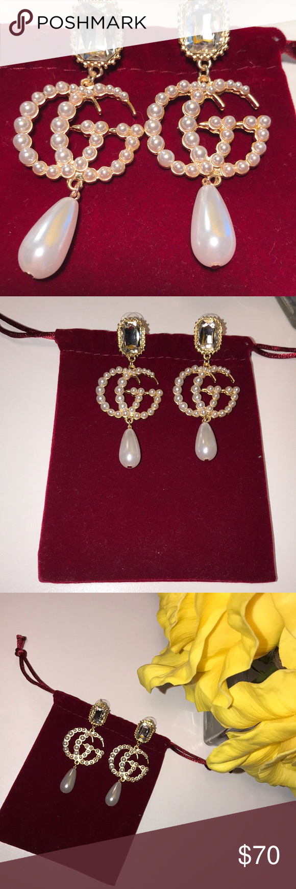 1c92d826c GG pearl drop earrings ✨ Inspired and brand new Gucci Jewelry Earrings