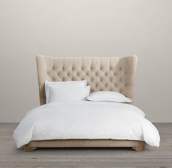 Churchill Upholstered Framed Bed | Upholstered Beds | Restoration Hardware