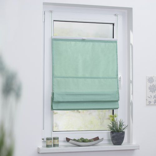 Klemmfix Top Roman Blinds Lichtblick Colour Mint Size 60cm W X 130cm H