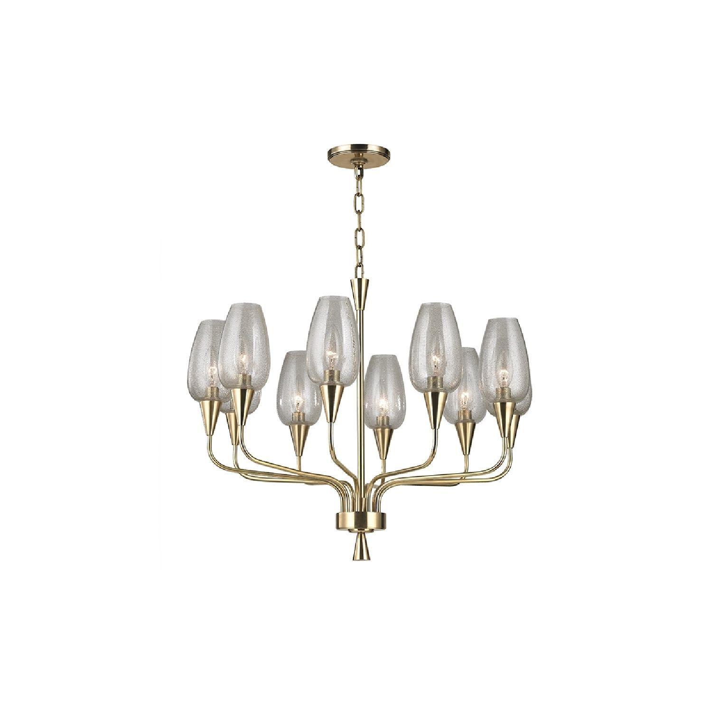 hudson valley lighting longmont 10 light chandelier aged brass in rh pinterest com