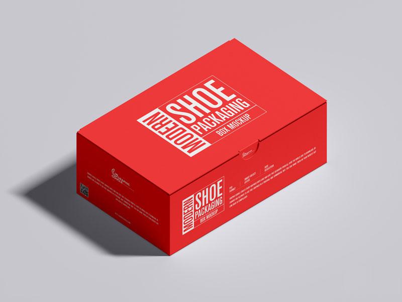 Download Free Shoe Packaging Box Mockup Mockuptree Box Mockup Box Packaging Free Packaging Mockup