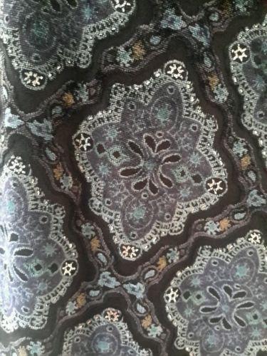 Apt-9-Gorgeous-Blue-Velvet-Sleeveless-Empire-Tie-Waist-Tank-Floral-Print-L