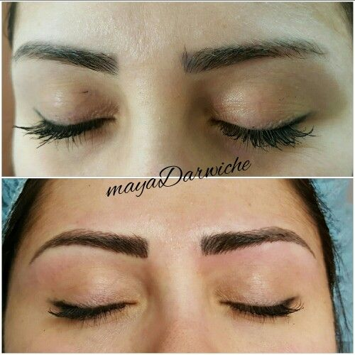 Microblading 3d Hair Strokes: Eyebrow Tattoo. 3D Eyebrow Embroidery Otherwise Called