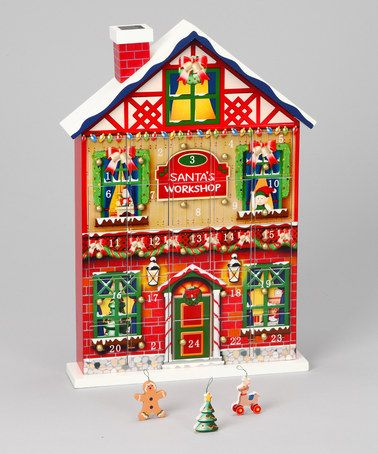 Take a look at this Home Bazaar Santa\u0027s Workshop Advent Calendar by