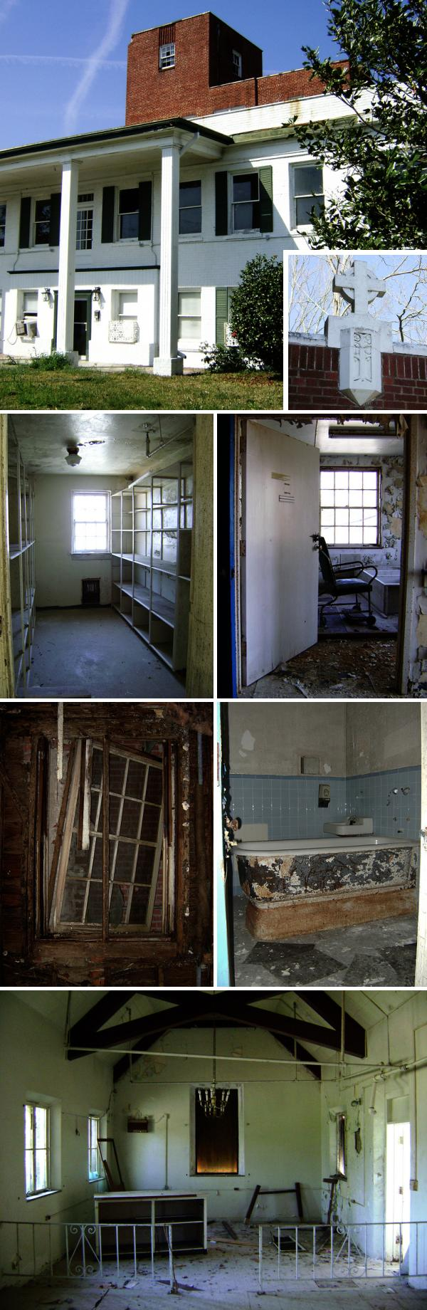 Old Mercy Hospital, Liberty, Texas abandoned in the 1980