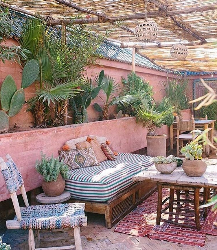 Moroccan Inspired Patio Chic Outdoor